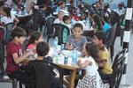 ガザ・ナワール児童館で行われた「イフタール」