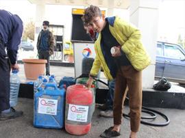 レバノン山間部で燃料配布を行いました!